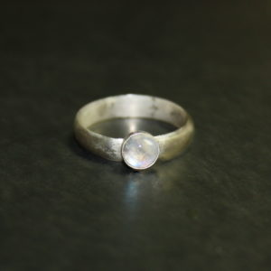 Moonstone Wideband Ring