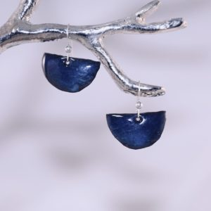 cobalt shield earrings